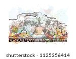 the potala palace in lhasa ... | Shutterstock .eps vector #1125356414