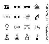 lifting icon. collection of 16...   Shutterstock .eps vector #1125356849