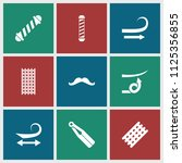 curl icon. collection of 9 curl ...   Shutterstock .eps vector #1125356855