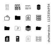 archive icon. collection of 16... | Shutterstock .eps vector #1125356954