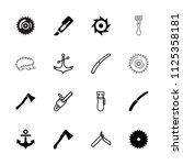 sharp icon. collection of 16... | Shutterstock .eps vector #1125358181