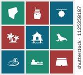 sea icon. collection of 9 sea... | Shutterstock .eps vector #1125358187