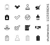 agreement icon. collection of... | Shutterstock .eps vector #1125358241