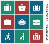 briefcase icon. collection of 9 ...   Shutterstock .eps vector #1125358439