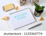 business ethic written in a... | Shutterstock . vector #1125365774