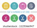 flat ui 8 color cut   clipboard ... | Shutterstock .eps vector #1125366947