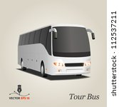 tourist bus | Shutterstock .eps vector #112537211
