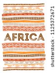 african background  flyer with... | Shutterstock .eps vector #1125372671