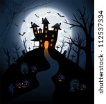 halloween night background with ... | Shutterstock .eps vector #112537334