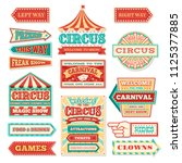 old carnival circus banners and ... | Shutterstock .eps vector #1125377885