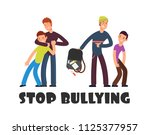 stop bullying concept. sad... | Shutterstock .eps vector #1125377957