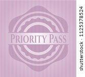 priority pass pink emblem   Shutterstock .eps vector #1125378524