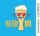 beer me vector concept...   Shutterstock .eps vector #1125383291
