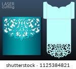 die laser cut wedding card...   Shutterstock .eps vector #1125384821