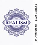 blue abstract rosette with text ... | Shutterstock .eps vector #1125388661