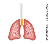 illustration smokers lungs ... | Shutterstock .eps vector #1125392939