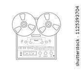 bobbin tape recorder on the... | Shutterstock .eps vector #1125393704