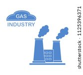 gas processing plant with... | Shutterstock .eps vector #1125396371