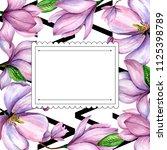 wildflower magnolia flower... | Shutterstock . vector #1125398789
