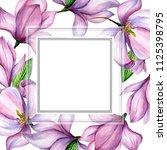 wildflower magnolia flower... | Shutterstock . vector #1125398795