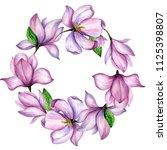 wildflower magnolia flower...   Shutterstock . vector #1125398807