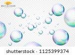 vector soap bubbles set... | Shutterstock .eps vector #1125399374