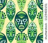 seamless pattern. african... | Shutterstock .eps vector #1125403151