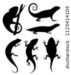 black silhouette. cartoon... | Shutterstock .eps vector #1125414104