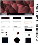 dark red vector ui kit in...
