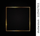 abstract shiny golden frame ... | Shutterstock . vector #1125417311