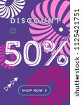 sale web banners template for... | Shutterstock .eps vector #1125421751