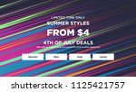 sale web banners template for... | Shutterstock .eps vector #1125421757