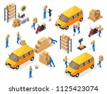 isometric delivery service ... | Shutterstock .eps vector #1125423074