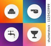 modern  simple vector icon set... | Shutterstock .eps vector #1125425999