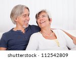 happy smiling senior couple... | Shutterstock . vector #112542809