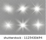 white glowing light burst...   Shutterstock .eps vector #1125430694