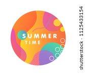 unique artistic design card  ... | Shutterstock .eps vector #1125433154
