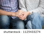 support in marriage concept ... | Shutterstock . vector #1125433274