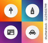 modern  simple vector icon set... | Shutterstock .eps vector #1125433799