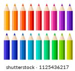 big collection of colored... | Shutterstock .eps vector #1125436217