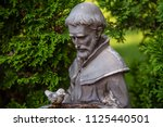 francis of assisi statue...   Shutterstock . vector #1125440501