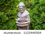 francis of assisi statue... | Shutterstock . vector #1125440504