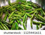 asparagus pan fry cook stir fry ...   Shutterstock . vector #1125441611