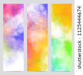 vector abstract banners with... | Shutterstock .eps vector #1125444674