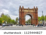 barcelona  spain   april 14 ... | Shutterstock . vector #1125444827