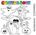 coloring book halloween topic 7 ...   Shutterstock .eps vector #112544831
