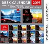 desk calendar template for 2019 ...   Shutterstock .eps vector #1125450944