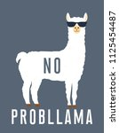 no prob llama motivational... | Shutterstock .eps vector #1125454487