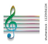 music violin clef sign. g clef. ...   Shutterstock .eps vector #1125456134
