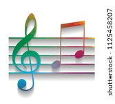 music violin clef sign. g clef...   Shutterstock .eps vector #1125458207